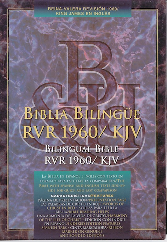 Span-RVR 1960/KJV Bilingual-Black Imitation Leather   SHOPtheWORD