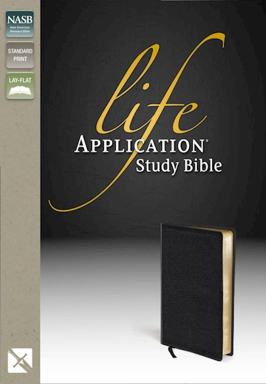 NASB Life Application Study Bible-Black Genuine Leather  | SHOPtheWORD