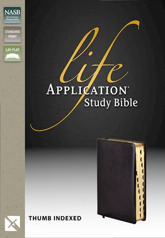 NASB Life Application Study Bible-Black Genuine Leather Indexed | SHOPtheWORD