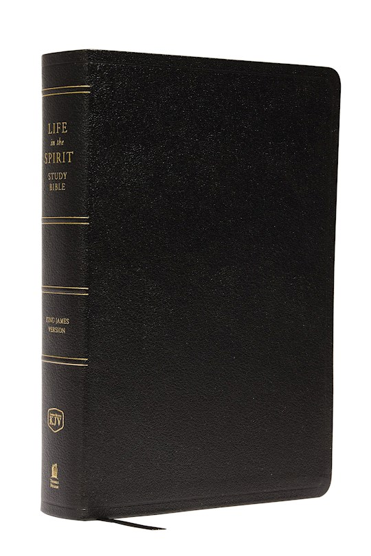 KJV Life In The Spirit Study Bible-Black Genuine Leather Indexed | SHOPtheWORD