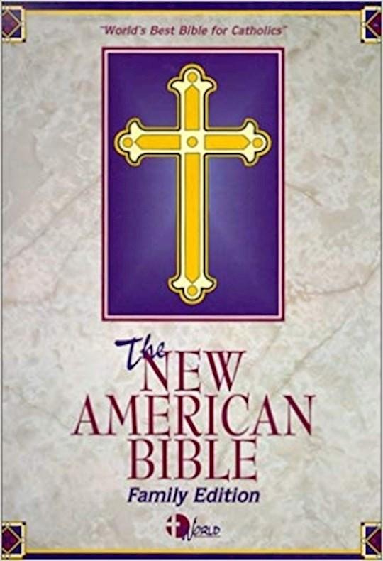 NABRE Catholic Family Bible-Burgundy Imitation Leather | SHOPtheWORD
