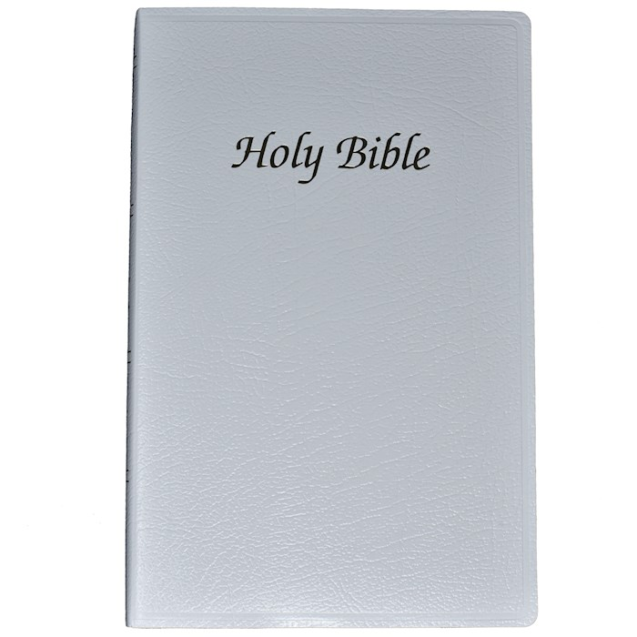 NABRE First Communion Bible-White Imitation Leather | SHOPtheWORD