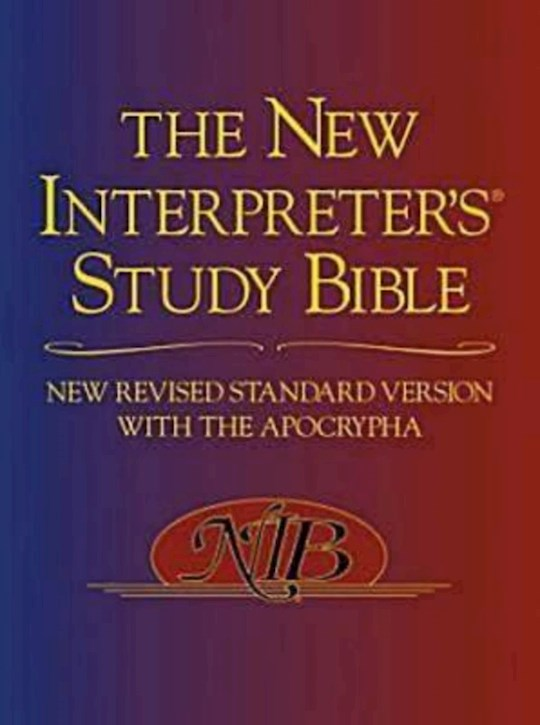 NRSV New Interpreter's Study Bible w/Apocrypha-Hardcover | SHOPtheWORD