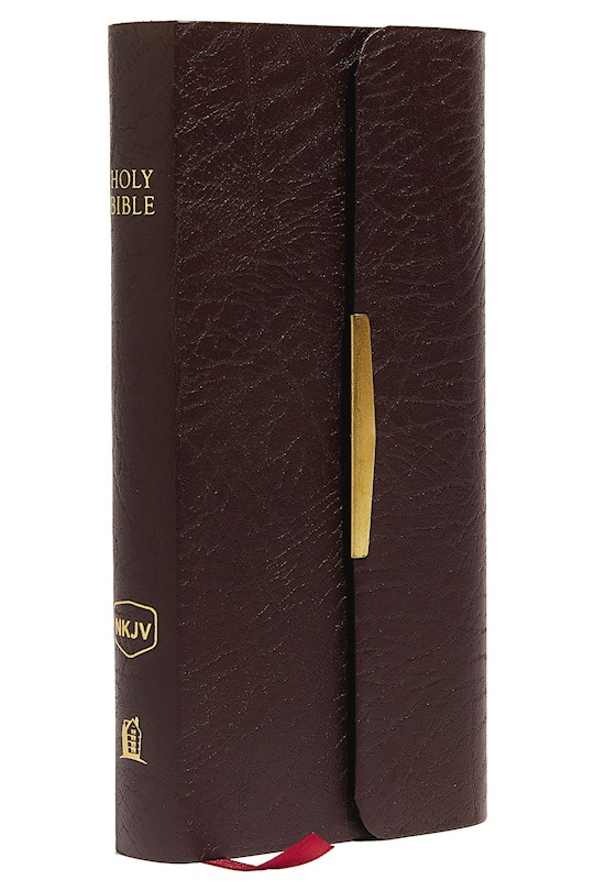 NKJV Classic Companion-Burgundy Bonded Leather w/Snap Flap | SHOPtheWORD