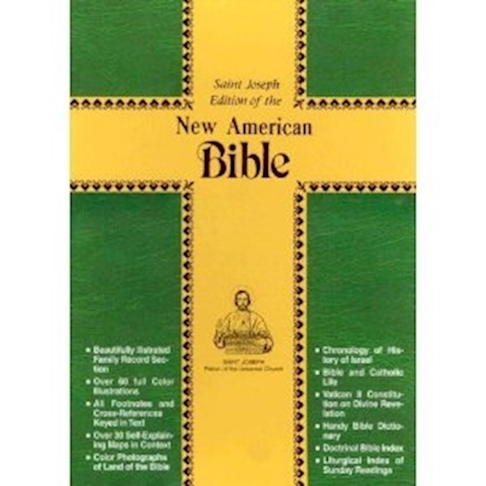 NABRE St. Joseph Edition Personal Size Bible-Burgundy Imitation Leather | SHOPtheWORD