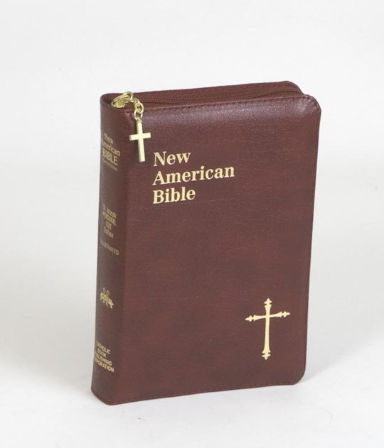 NABRE St. Joseph Edition Personal Size Bible-Burgundy Bonded Leather w/Zipper | SHOPtheWORD
