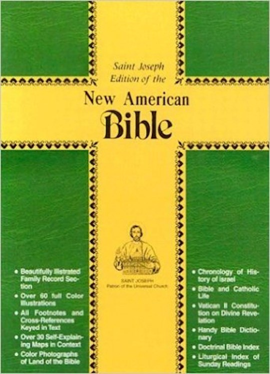 NABRE St. Joseph Edition Personal Size Bible-Brown Imitation Leather | SHOPtheWORD