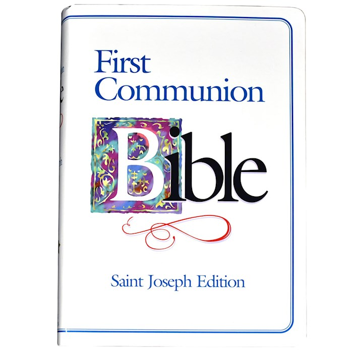 NABRE St. Joseph Edition First Communion Boy's Bible-White Flexicover | SHOPtheWORD