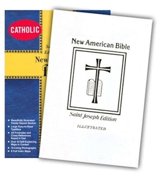 NABRE St. Joseph Edition Medium Size Gift Bible-White Bonded Leather | SHOPtheWORD