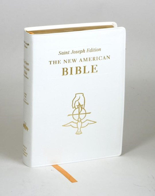 NABRE St. Joseph Edition Full Size Gift Bible-White Bonded Leather | SHOPtheWORD