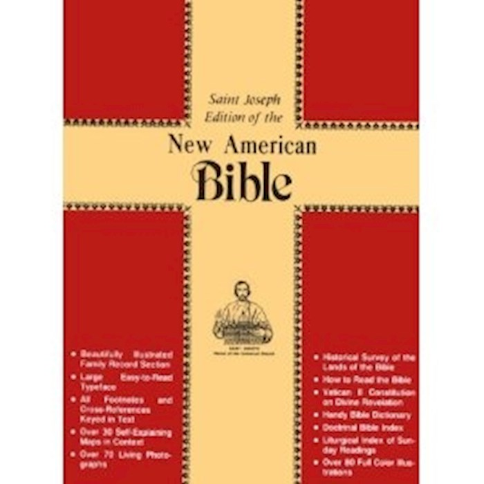 NABRE St. Joseph Edition Full Size Gift Bible-Brown Bonded Leather | SHOPtheWORD