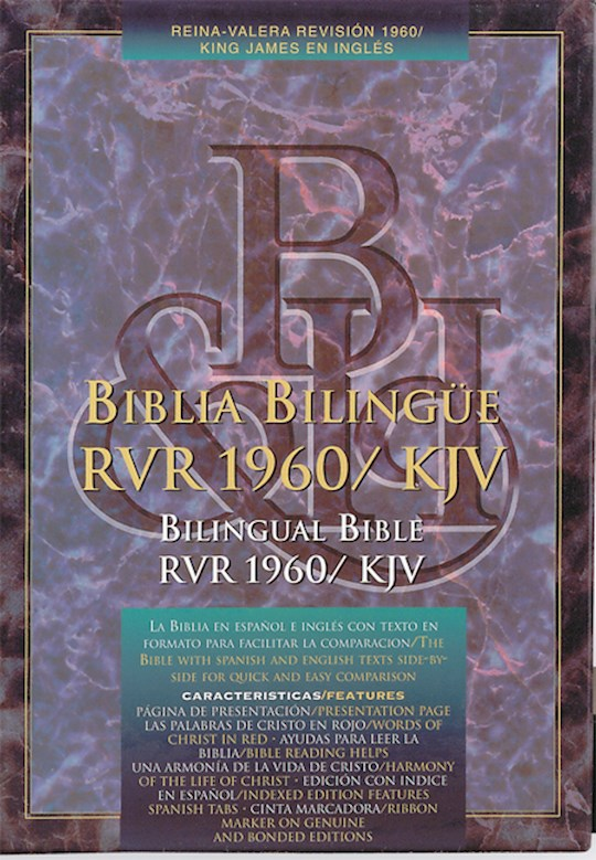 Span-RVR 1960/KJV Bilingual-Black Bonded Leather Indexed | SHOPtheWORD