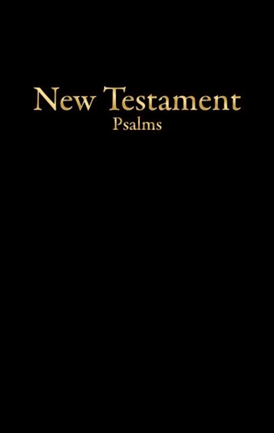 KJV Economy New Testament w/Psalms-Black Imitation Leather | SHOPtheWORD