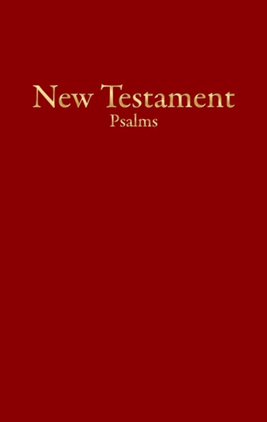 KJV Economy New Testament w/Psalms-Burgundy Imitation Leather | SHOPtheWORD