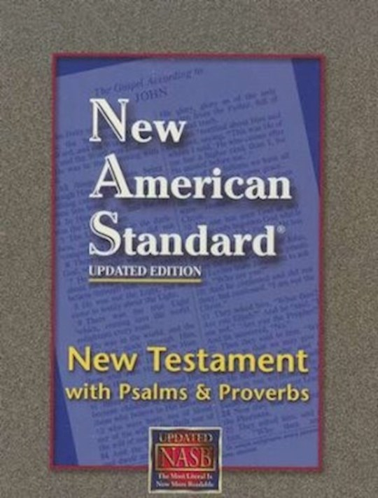 NASB New Testament w/Psalms And Proverbs-Black Bonded Leather | SHOPtheWORD