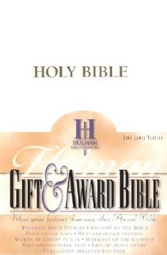 KJV Gift & Award Bible-White Imitation Leather | SHOPtheWORD