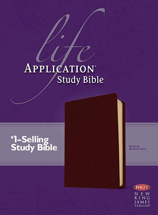 NKJV Life Application Study Bible-Burgundy Bonded Leather | SHOPtheWORD