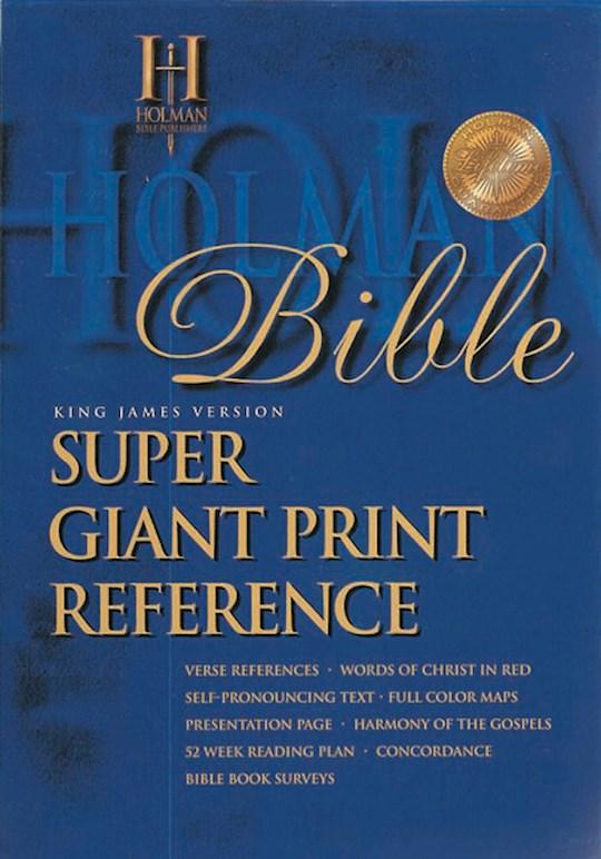 KJV Super Giant Print Reference Bible-Black Imitation Leather | SHOPtheWORD