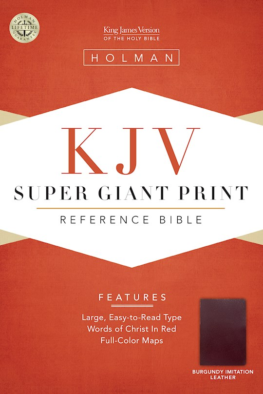 KJV Super Giant Print Reference Bible-Burgundy Imitation Leather | SHOPtheWORD