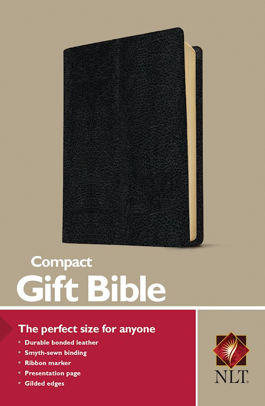 NLT Compact Gift Bible-Black Bonded Leather | SHOPtheWORD