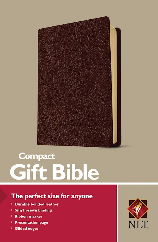 NLT Compact Gift Bible-Burgundy Bonded Leather | SHOPtheWORD