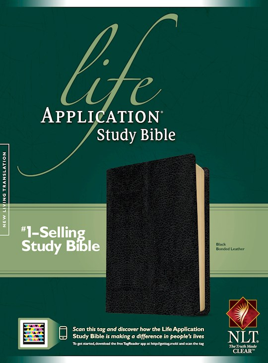 NLT Life Application Study Bible (Second Edition)-Black Bonded Leather (Not Available-Out Of Print) | SHOPtheWORD