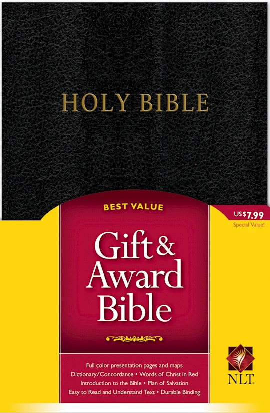 NLT Gift & Award Bible-Black Imitation Leather | SHOPtheWORD