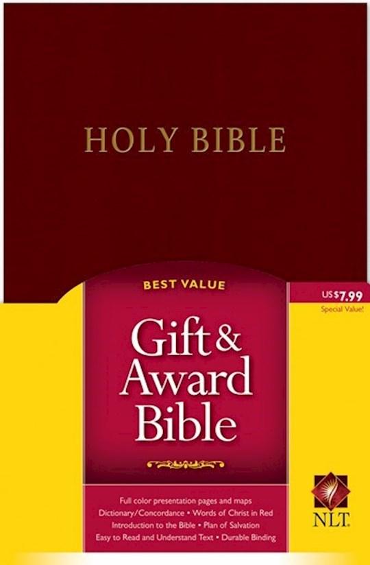 NLT Gift & Award Bible-Burgundy Imitation Leather | SHOPtheWORD