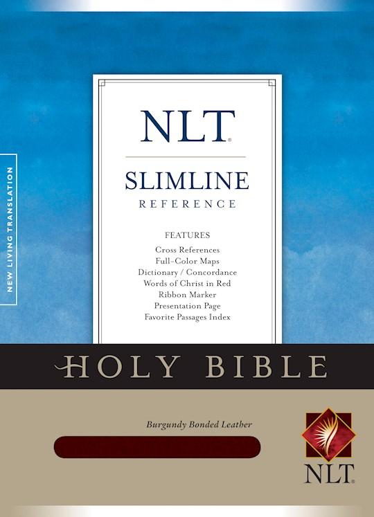 NLT Slimline Reference Bible-Burgundy Bonded Leather | SHOPtheWORD