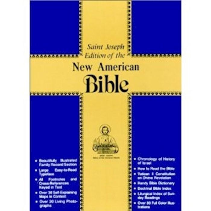 NABRE St. Joseph Edition Medium Size Gift Bible-Red Imitation Leather | SHOPtheWORD