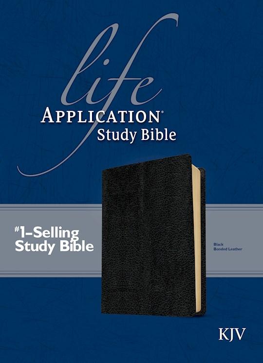 KJV Life Application Study Bible-Black Bonded Leather | SHOPtheWORD