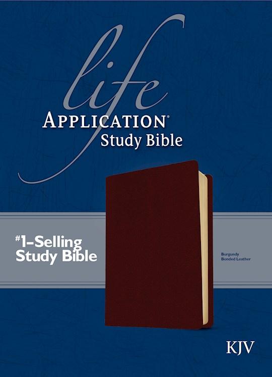 KJV Life Application Study Bible-Burgundy Bonded Leather | SHOPtheWORD