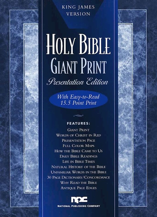 KJV Giant Print Bible-Deluxe Edition-Black Imitation Leather | SHOPtheWORD