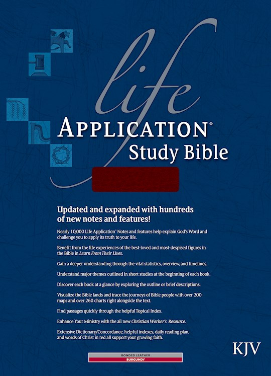 KJV Life Application Study Bible-Burgundy Bonded Leather Indexed | SHOPtheWORD