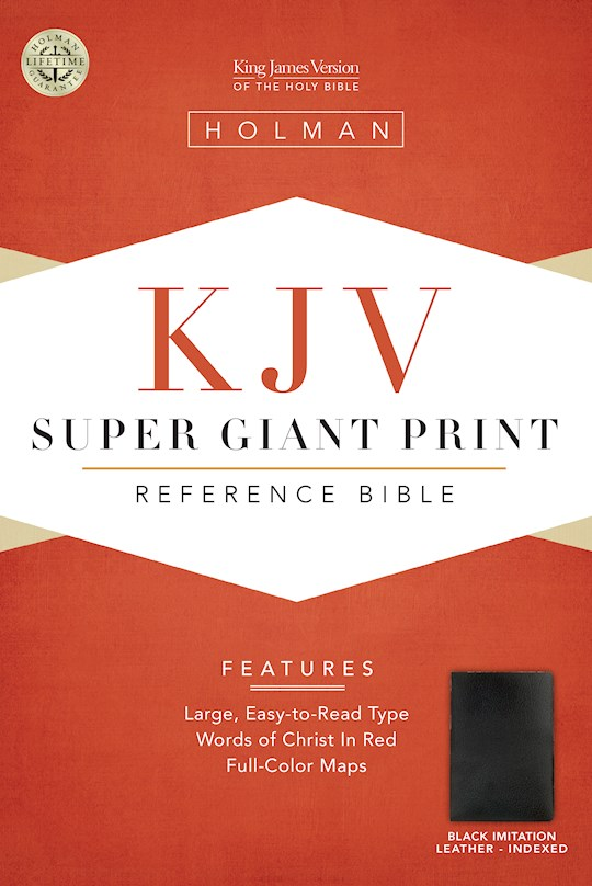 KJV Super Giant Print Reference Bible-Black Imitation Leather Indexed | SHOPtheWORD