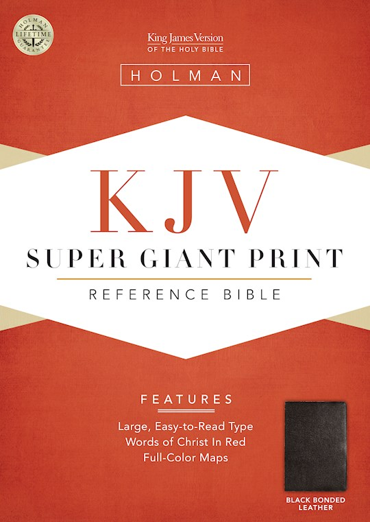 KJV Super Giant Print Reference Bible-Black Bonded Leather | SHOPtheWORD