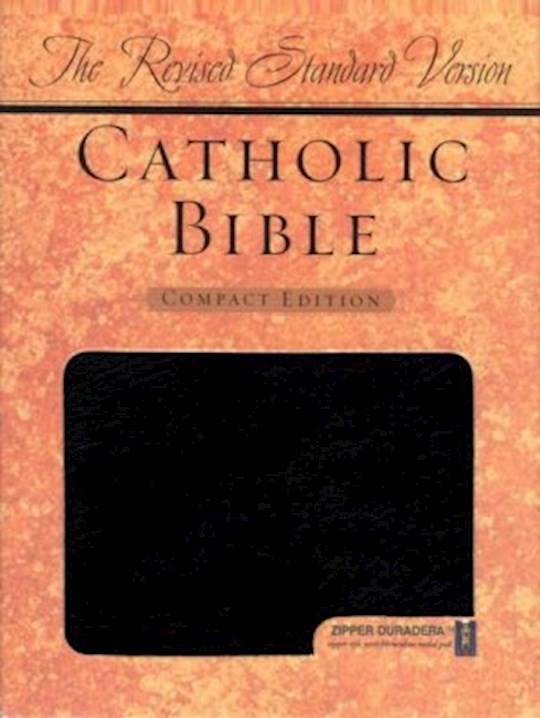 RSV Catholic Bible/Compact Edition-Black Duradera w/Zipper | SHOPtheWORD