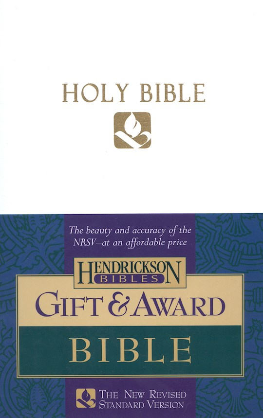 NRSV Gift And Award Bible-White Imitation Leather | SHOPtheWORD