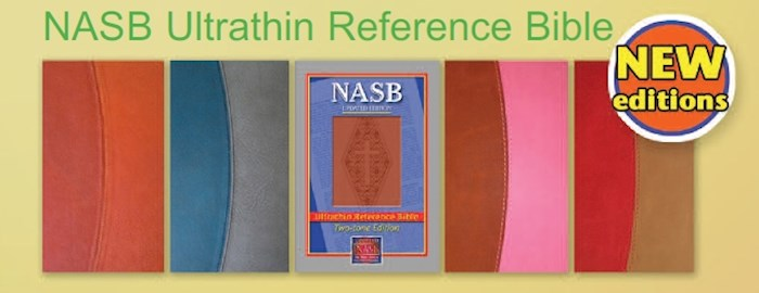 NASB UltraThin Reference Bible-Brown/Light Brown Leathertex | SHOPtheWORD