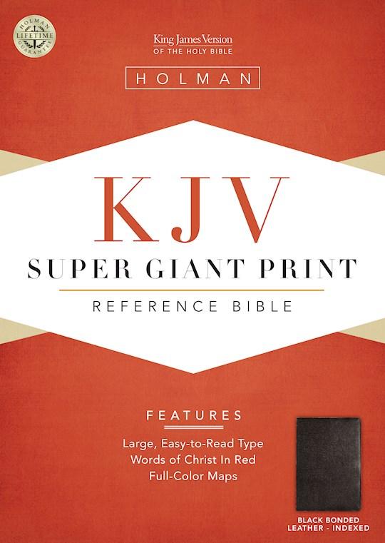 KJV Super Giant Print Reference Bible-Black Bonded Leather Indexed | SHOPtheWORD