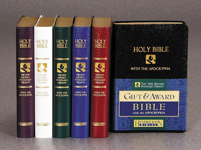 NRSV Gift And Award Bible With Apocrypha-Blue Imitation Leather | SHOPtheWORD