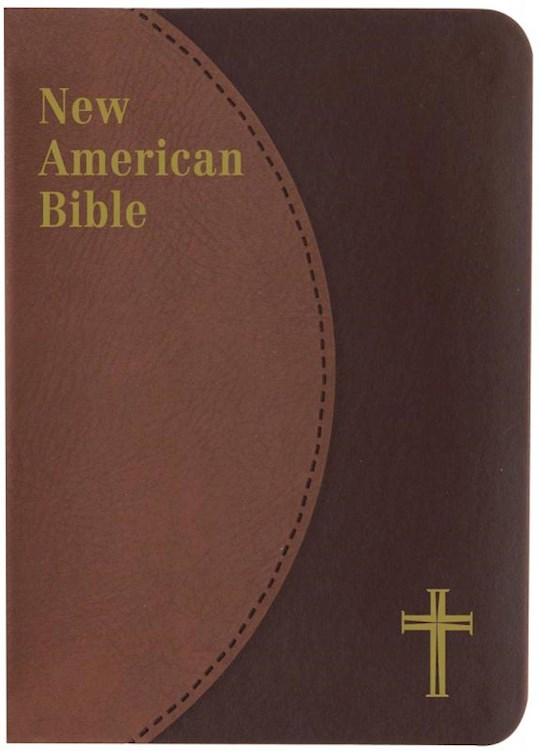 NABRE St. Joseph Edition Personal Size Bible-Brown Dura-Lux Imitation Leather | SHOPtheWORD
