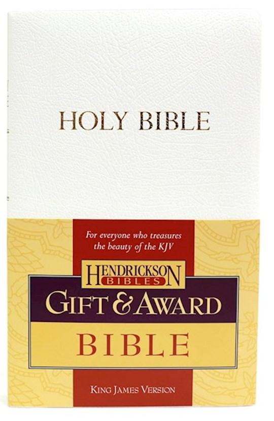 KJV Gift And Award Bible-White Flexisoft   SHOPtheWORD