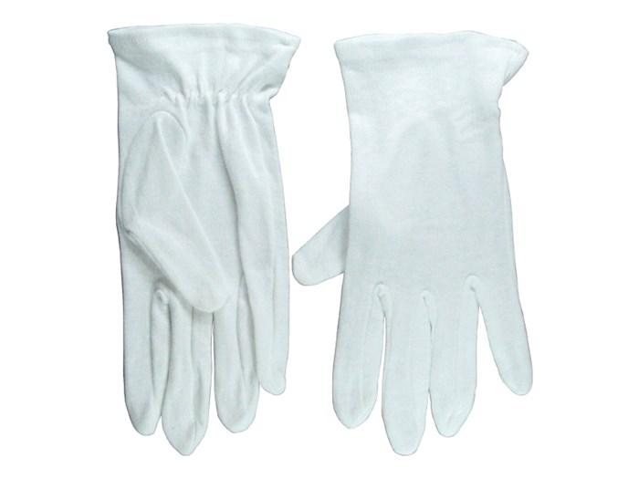 Gloves-Usher Solid White Cotton-Medium | SHOPtheWORD