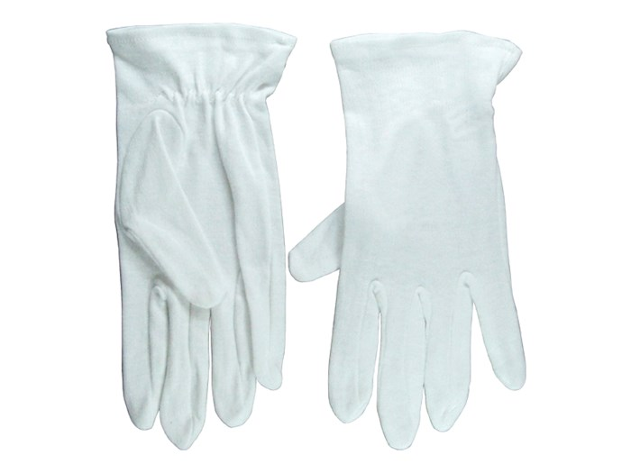 Gloves-Usher Solid White Cotton-Large | SHOPtheWORD