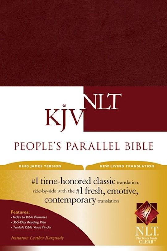 KJV/NLT People's Parallel Bible-Burgundy Imitation Leather | SHOPtheWORD