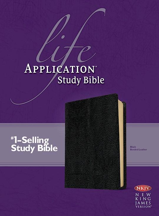 NKJV Life Application Study Bible-Black Bonded Leather   SHOPtheWORD