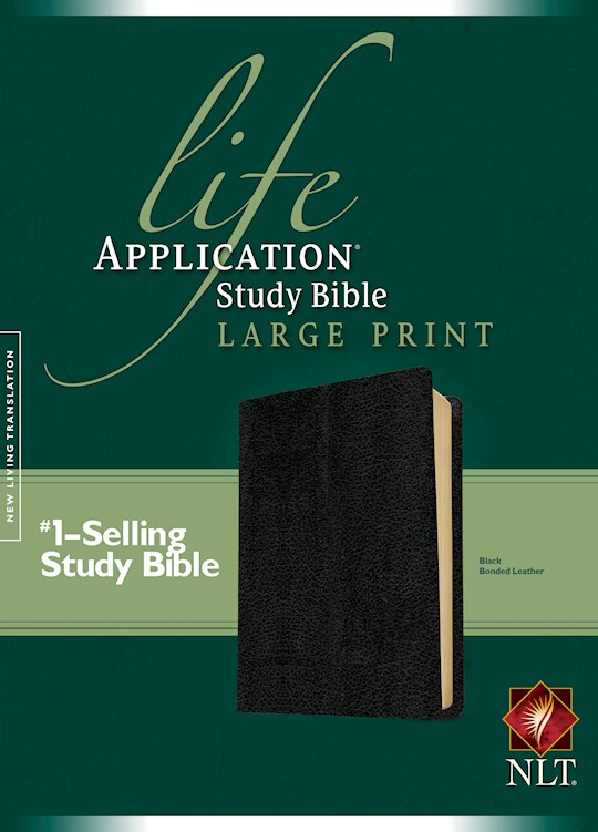 NLT Life Application Study Bible/Large Print-Black Bonded Leather | SHOPtheWORD