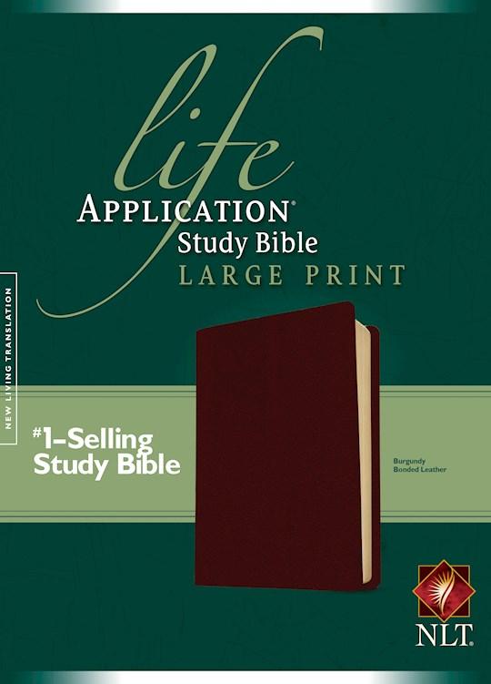 NLT Life Application Study Bible/Large Print (Second Edition)-Burgundy Bonded Leather | SHOPtheWORD