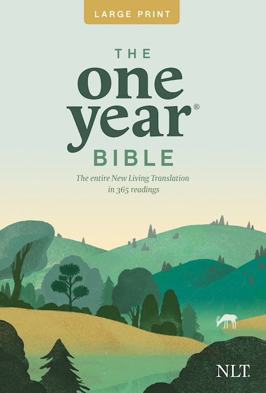 NLT One Year Bible Slimline/Large Print-Softcover | SHOPtheWORD